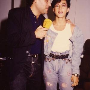Amb Ana Torroja de Mecano-1988